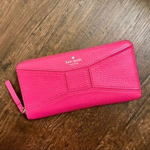Kate Spade Pebbled Leather Bow Wallet